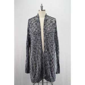 American Eagle Outfitters Gray & Blue Cardigan Large Loose Knit Size Med Women's